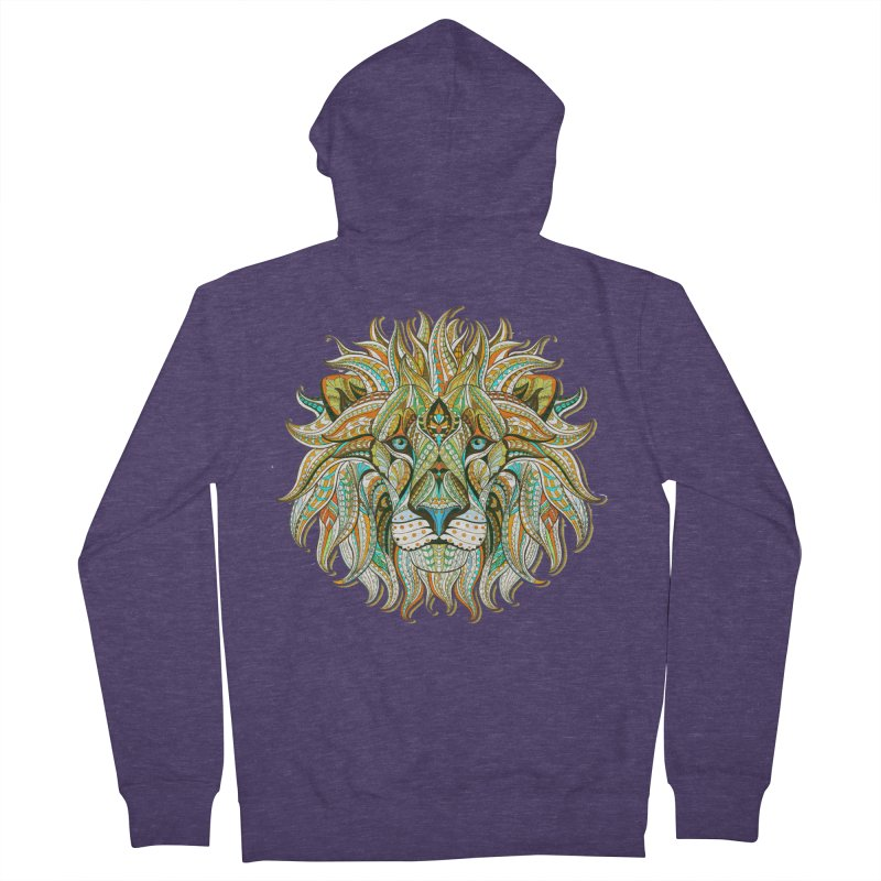 Lionometry Men's French Terry Zip-Up Hoody by Noir Designs