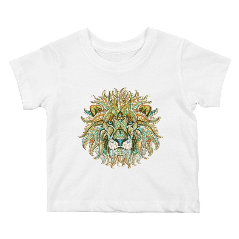 Lionometry Kids Baby T-Shirt by Noir Designs