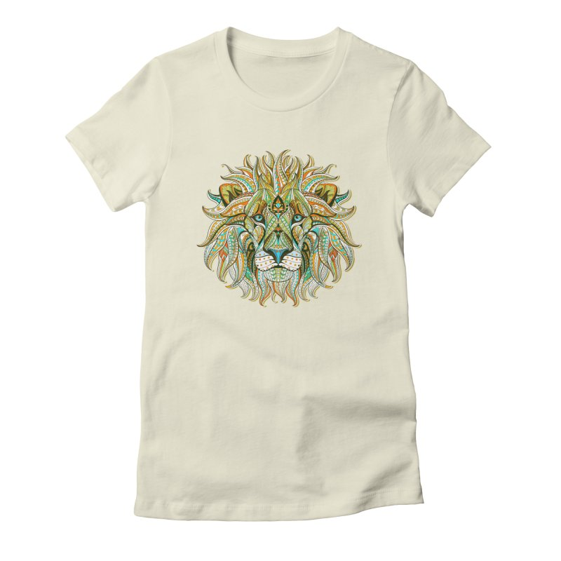 Lionometry Women's Fitted T-Shirt by Noir Designs