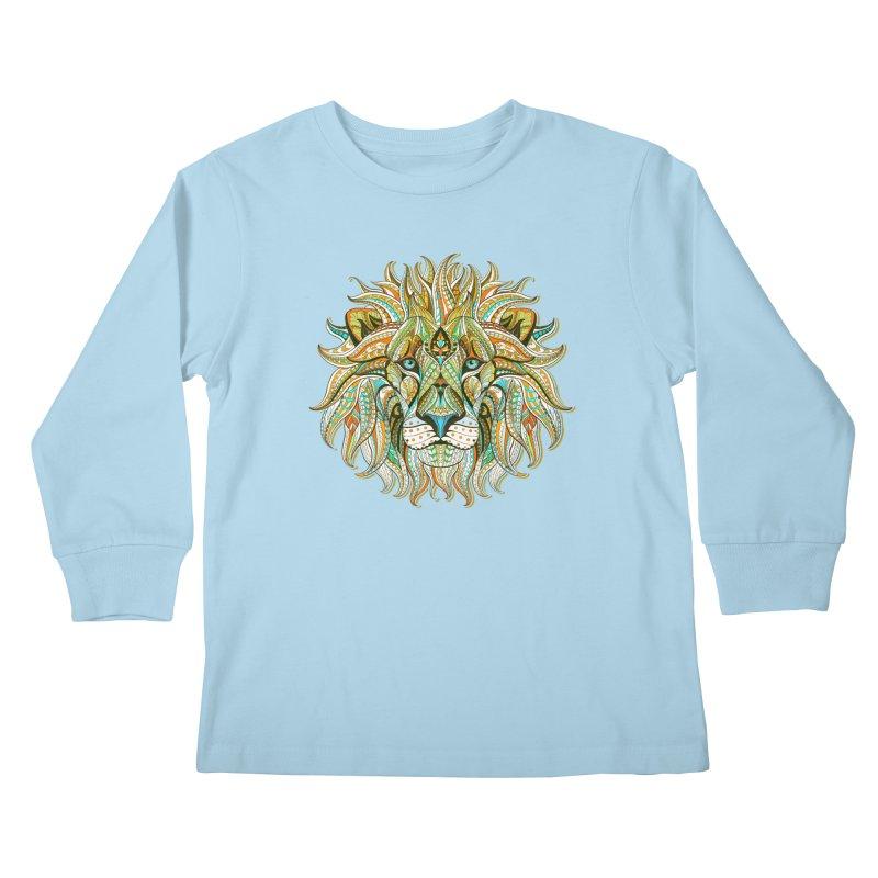 Lionometry Kids Longsleeve T-Shirt by Noir Designs
