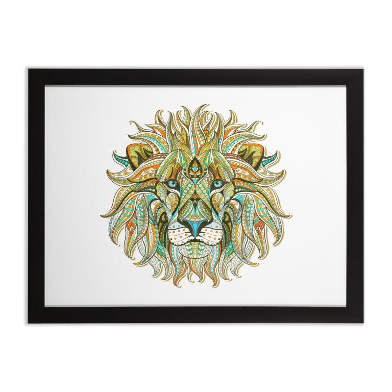 Lionometry Home Framed Fine Art Print by Noir Designs