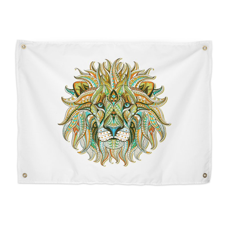 Lionometry Home Tapestry by Noir Designs