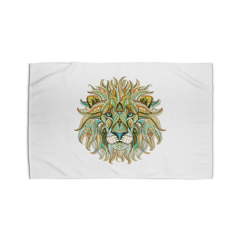 Lionometry Home Rug by Noir Designs