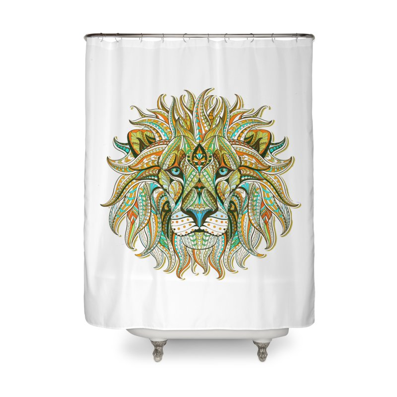 Lionometry Home Shower Curtain by Noir Designs