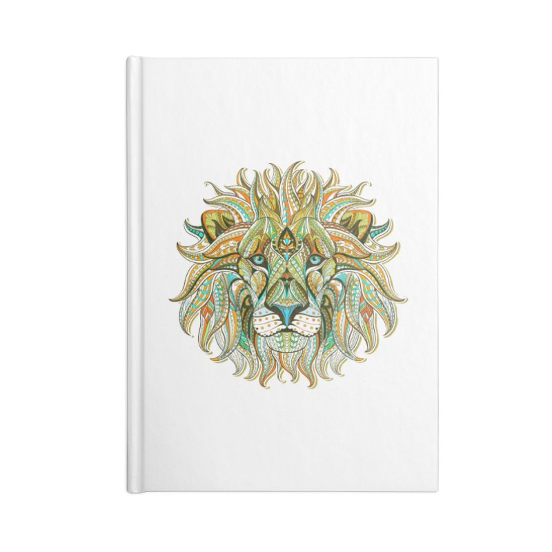 Lionometry Accessories Blank Journal Notebook by Noir Designs
