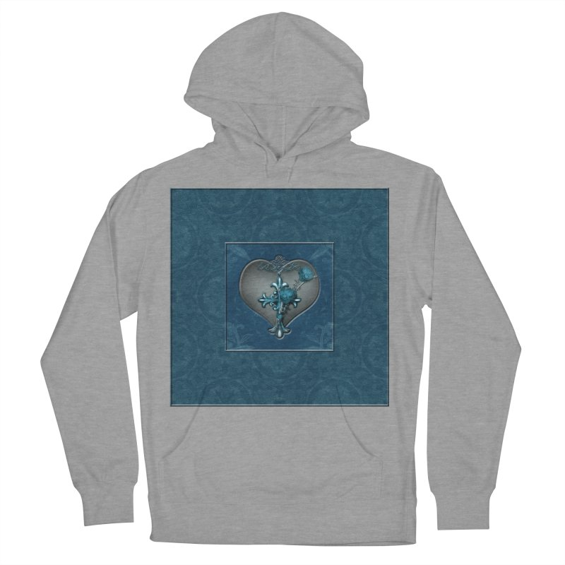 Blue Loyalty Men's French Terry Pullover Hoody by Noir Designs