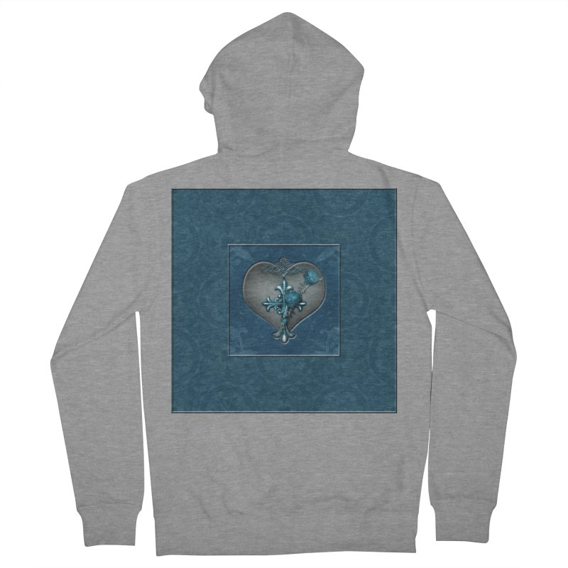 Blue Loyalty Women's French Terry Zip-Up Hoody by Noir Designs