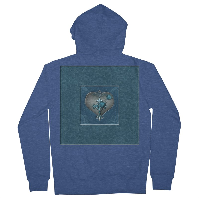 Blue Loyalty Men's French Terry Zip-Up Hoody by Noir Designs