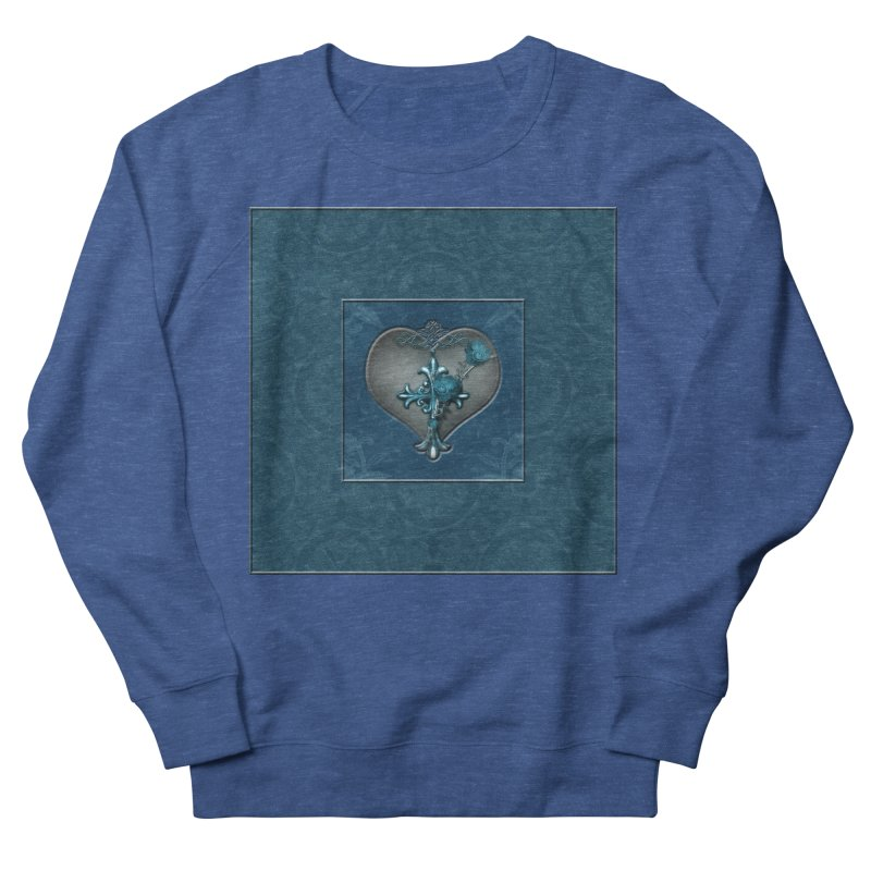 Blue Loyalty Men's French Terry Sweatshirt by Noir Designs