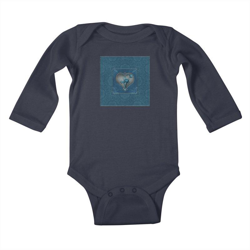 Blue Loyalty Kids Baby Longsleeve Bodysuit by Noir Designs