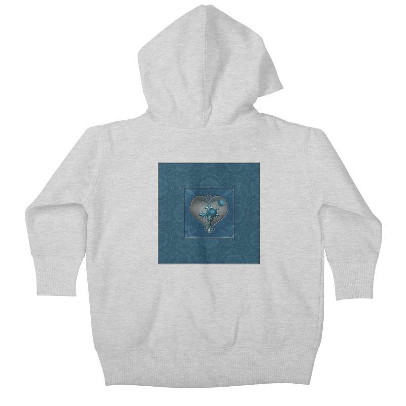 Blue Loyalty Kids Baby Zip-Up Hoody by Noir Designs