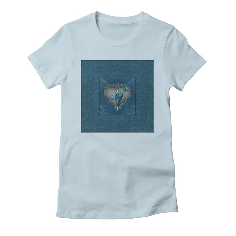 Blue Loyalty Women's Fitted T-Shirt by Noir Designs