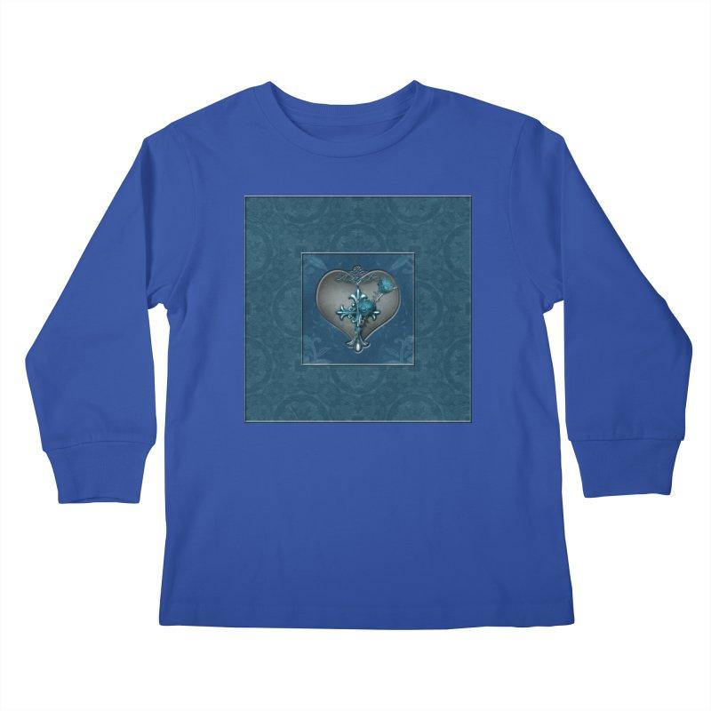 Blue Loyalty Kids Longsleeve T-Shirt by Noir Designs