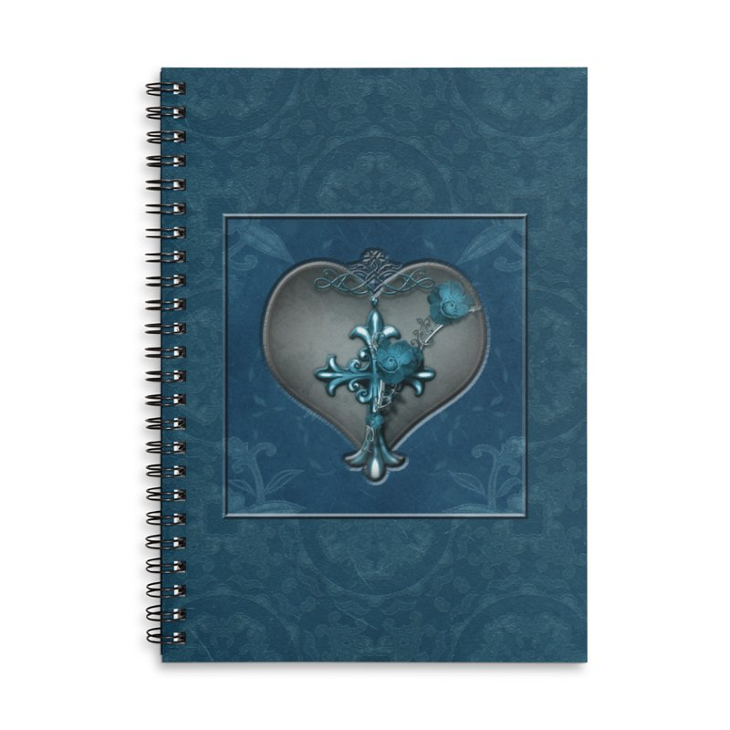 Blue Loyalty Accessories Lined Spiral Notebook by Noir Designs