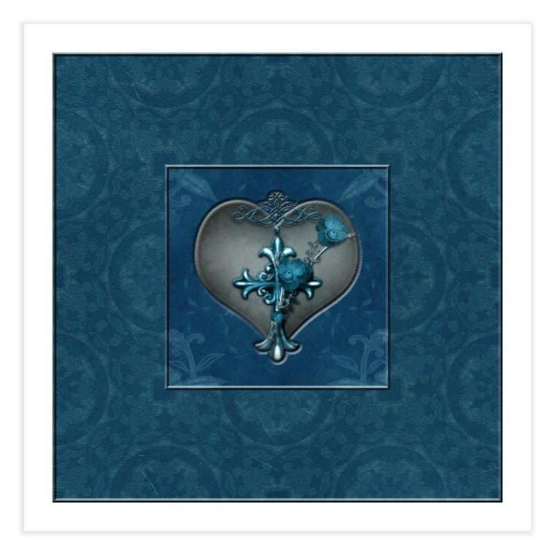 Blue Loyalty Home Fine Art Print by Noir Designs