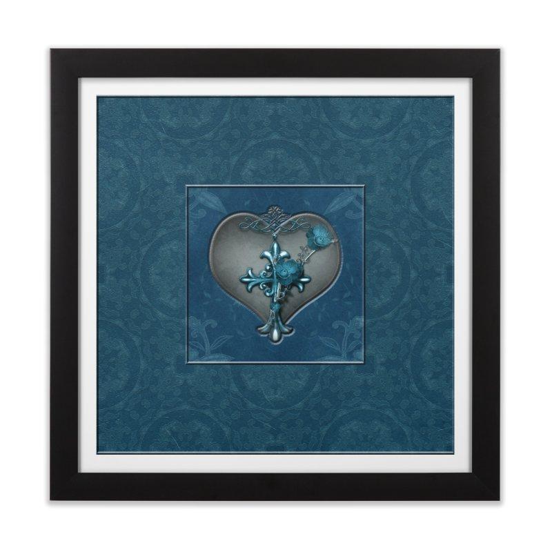 Blue Loyalty Home Framed Fine Art Print by Noir Designs