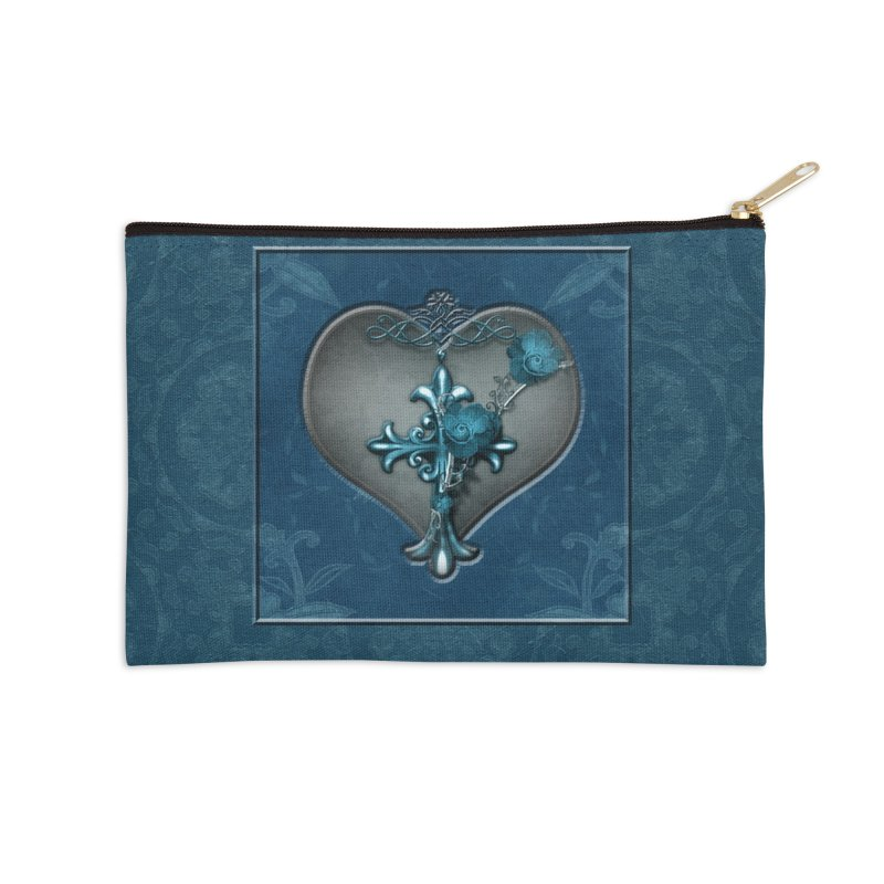 Blue Loyalty Accessories Zip Pouch by Noir Designs