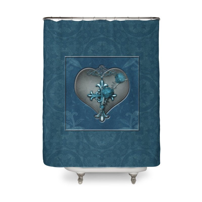 Blue Loyalty Home Shower Curtain by Noir Designs