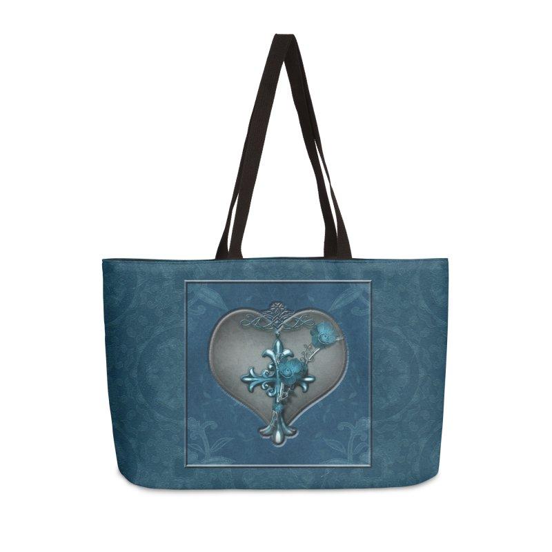 Blue Loyalty Accessories Weekender Bag Bag by Noir Designs