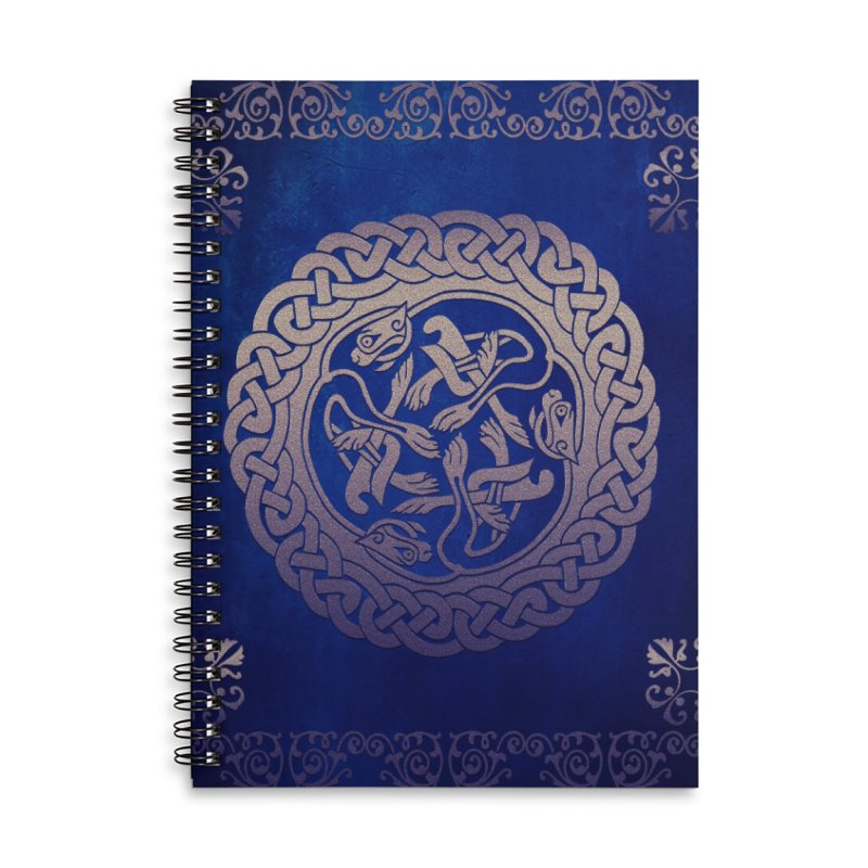 Indigo Sky Accessories Lined Spiral Notebook by Noir Designs