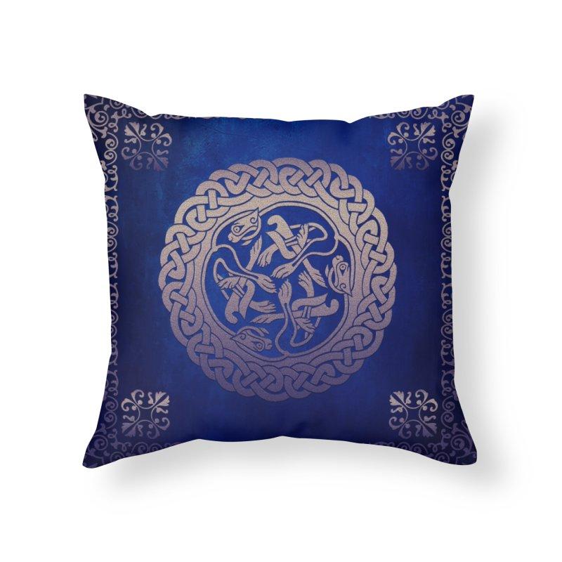 Indigo Sky Home Throw Pillow by Noir Designs