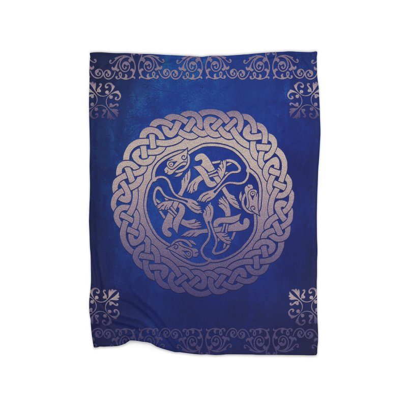 Indigo Sky in Fleece Blanket Blanket by Noir Designs