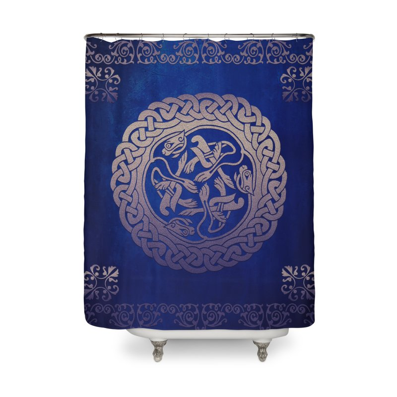 Indigo Sky Home Shower Curtain by Noir Designs