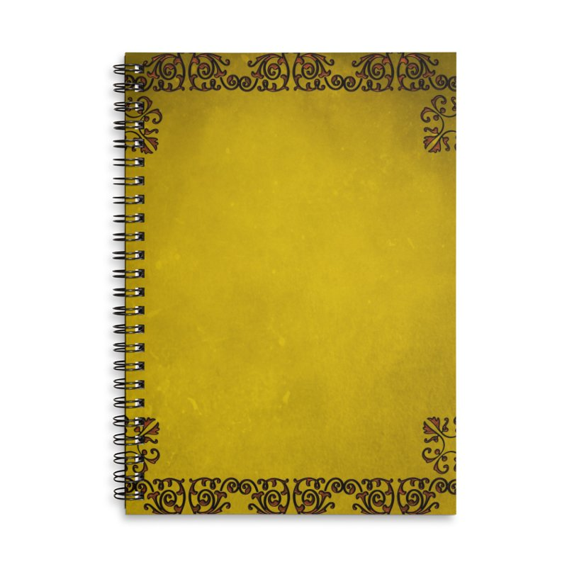 Golden Sun Accessories Lined Spiral Notebook by Noir Designs