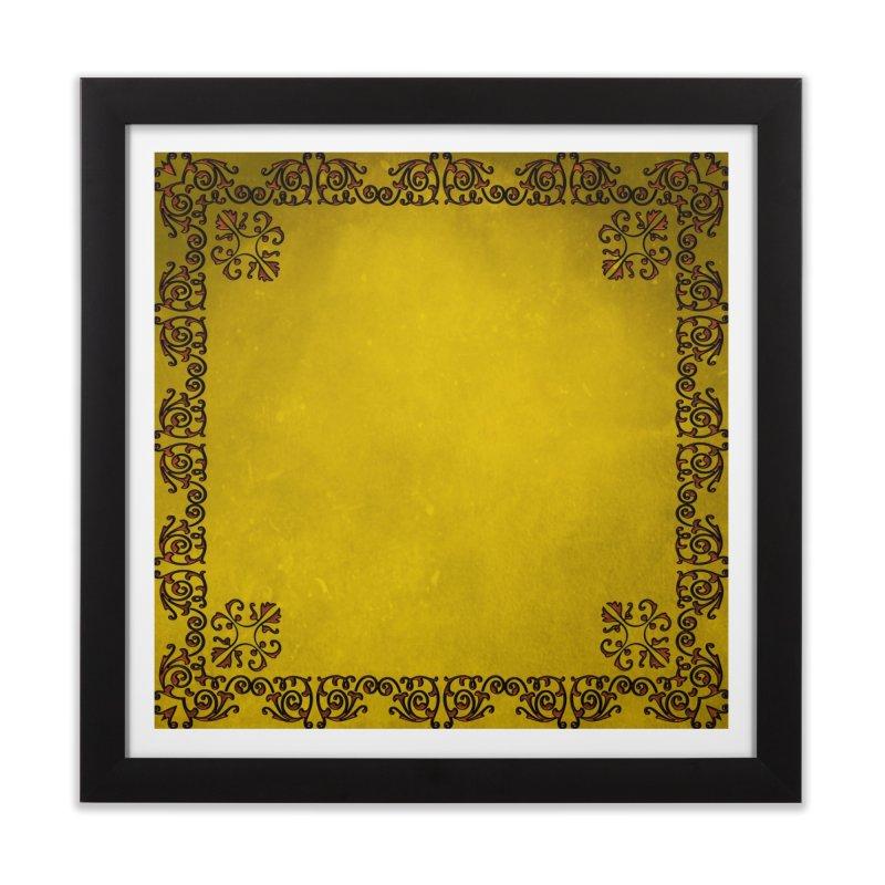 Golden Sun Home Framed Fine Art Print by Noir Designs