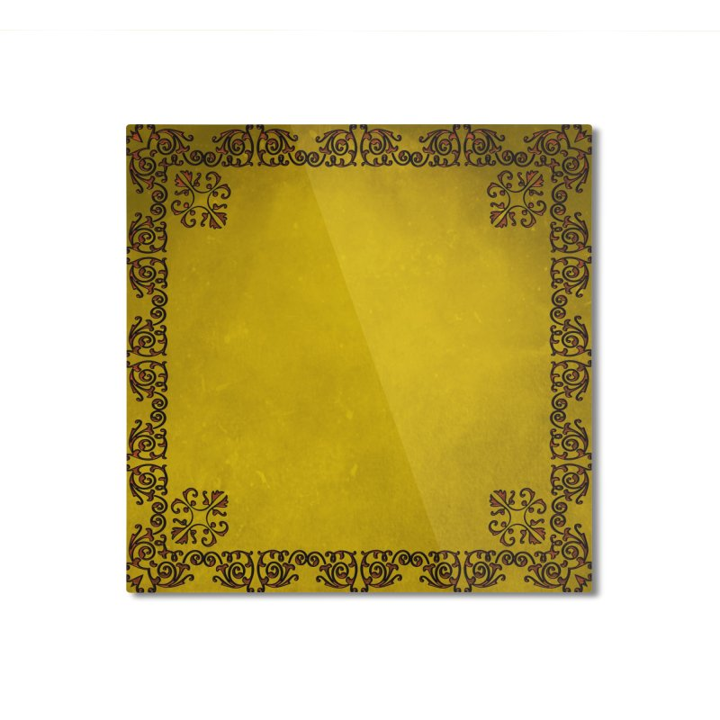 Golden Sun Home Mounted Aluminum Print by Noir Designs