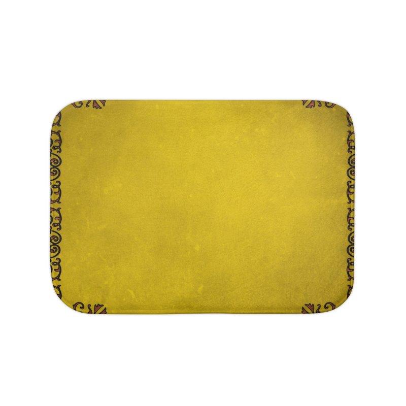 Golden Sun Home Bath Mat by Noir Designs