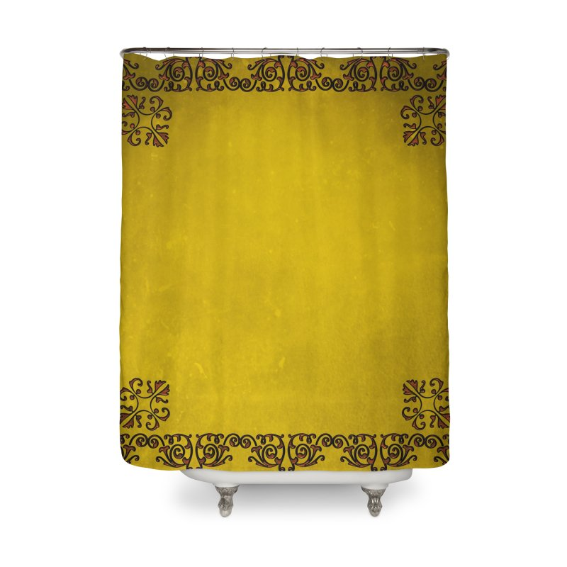 Golden Sun Home Shower Curtain by Noir Designs