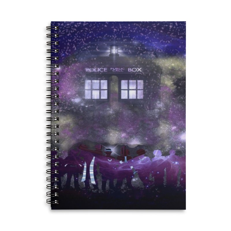 Twelve Accessories Lined Spiral Notebook by Noir Designs