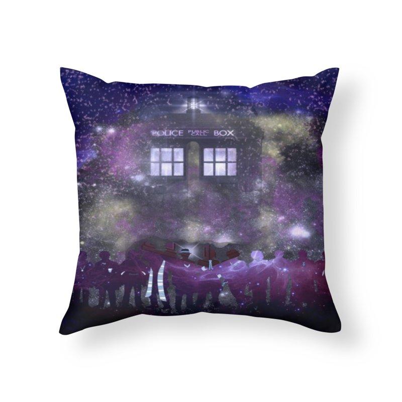 Twelve in Throw Pillow by Noir Designs