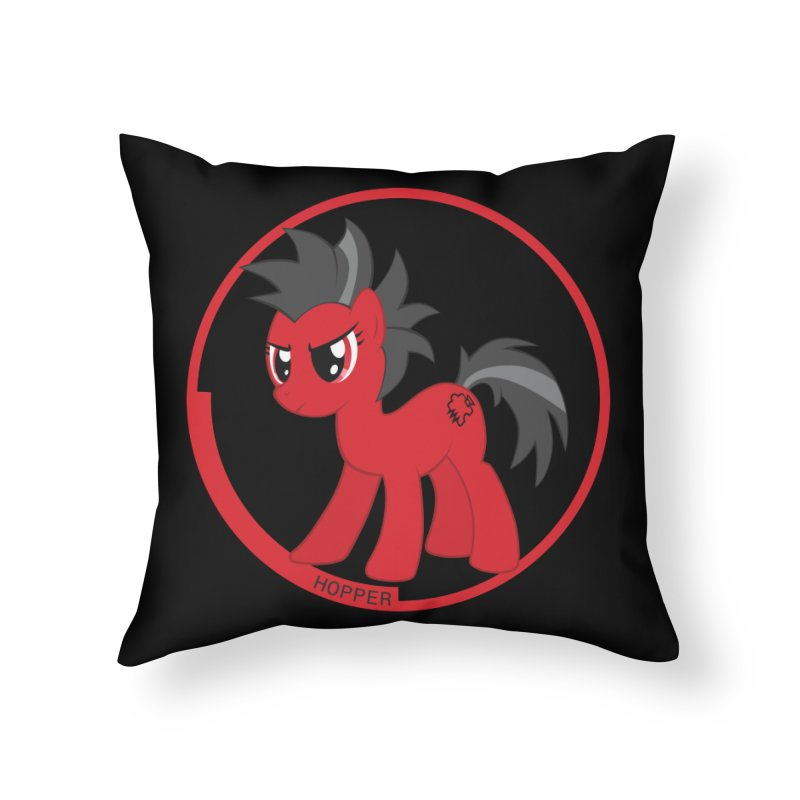 Hopper black back in Throw Pillow by noisebridge's Artist Shop