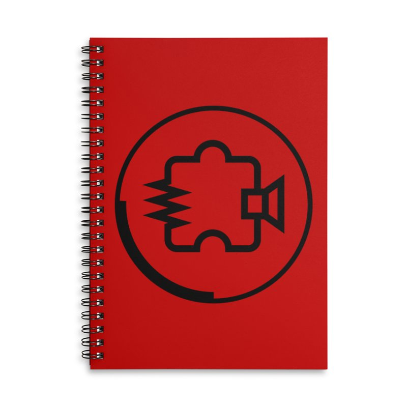 Noisebridge Logo Black in Lined Spiral Notebook by noisebridge's Artist Shop