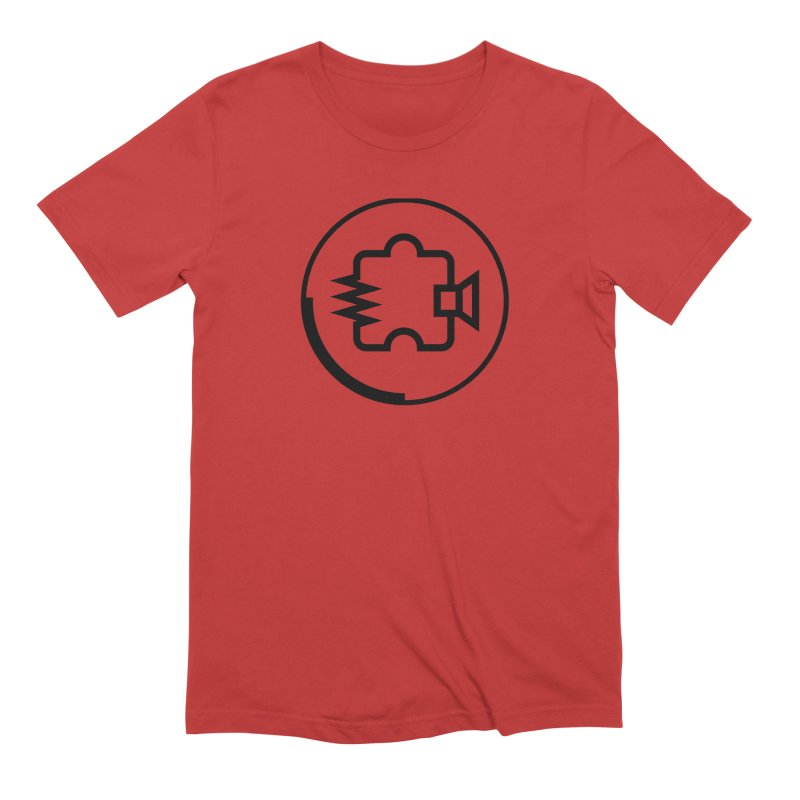 Noisebridge Logo Black in Men's Extra Soft T-Shirt Red by noisebridge's Artist Shop