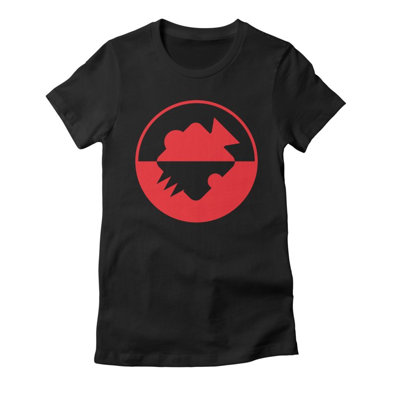 Noisebridge Reboot Logo Red in Women's Fitted T-Shirt Black by noisebridge's Artist Shop
