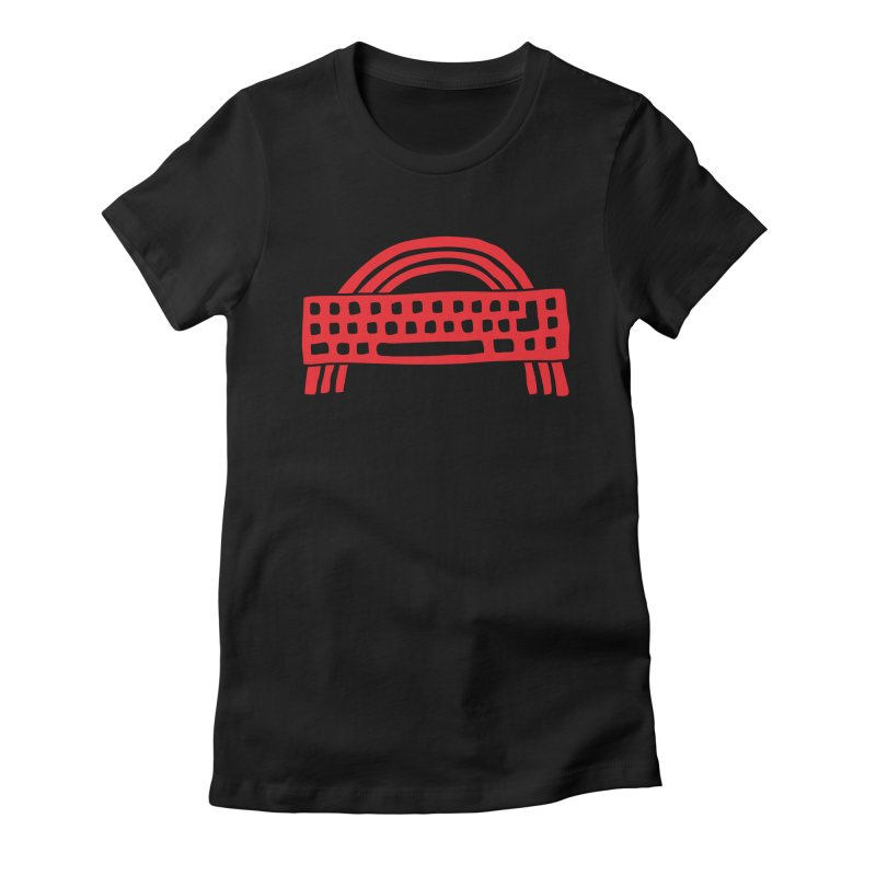 Noisebridge Rainbow Red in Women's Fitted T-Shirt Black by noisebridge's Artist Shop