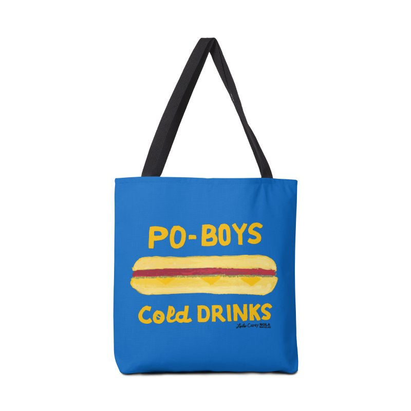 NOLA 'Nacular Poboys Cold Drinks sign Lester Carey t-shirt Accessories Bag by NOLA 'Nacular's Shop