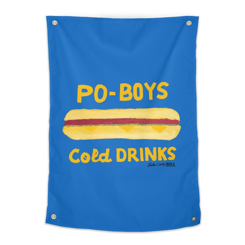 NOLA 'Nacular Poboys Cold Drinks sign Lester Carey t-shirt Prints + Decor Tapestry by NOLA 'Nacular's Shop