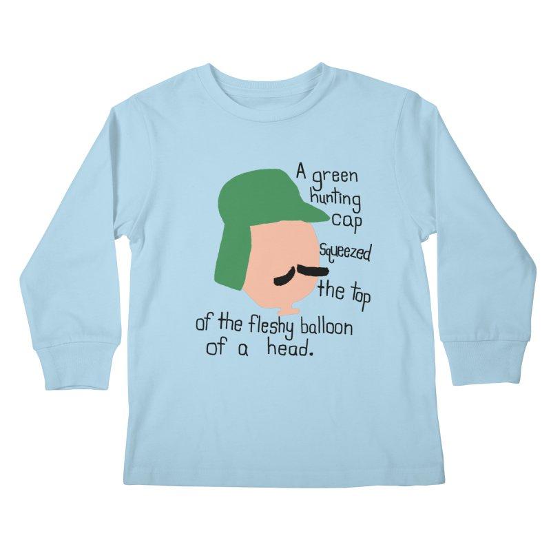 Iggy Balloon Head Kids Longsleeve T-Shirt by NOLA 'Nacular's Shop