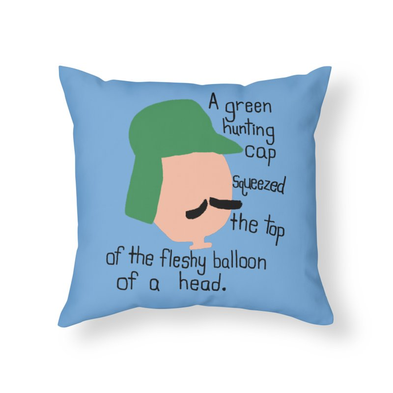 Iggy Balloon Head Home Throw Pillow by NOLA 'Nacular's Shop