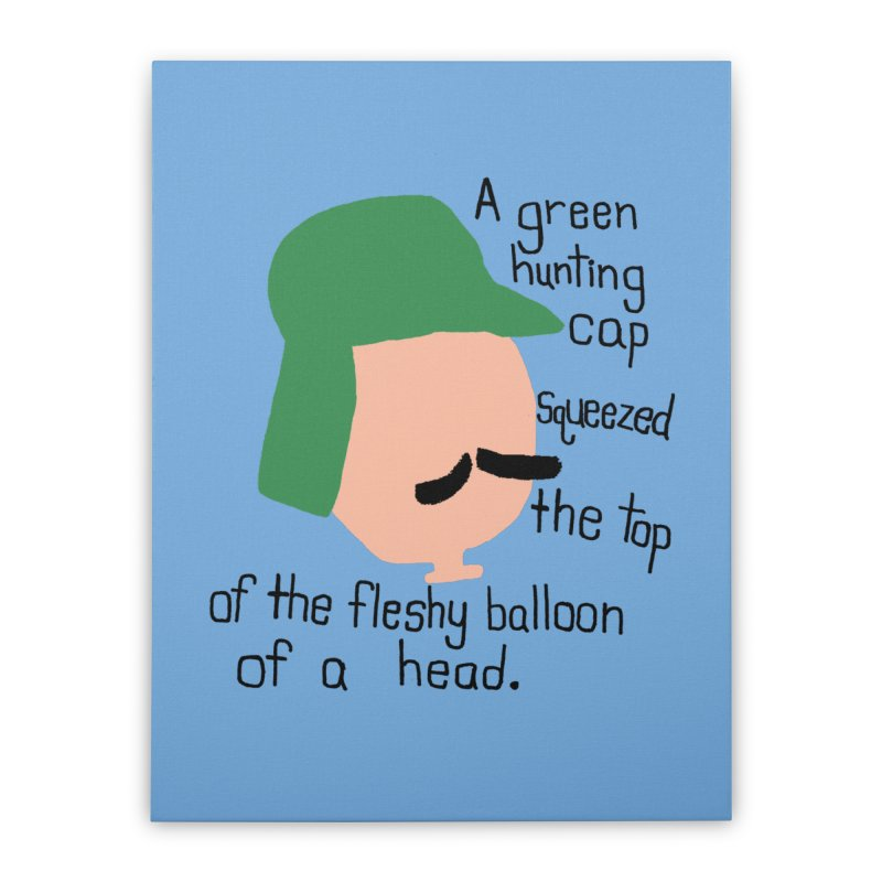 Iggy Balloon Head Home Stretched Canvas by NOLA 'Nacular's Shop