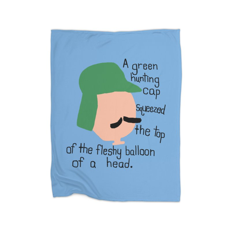 Iggy Balloon Head Home Fleece Blanket Blanket by NOLA 'Nacular's Shop