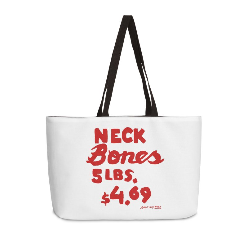 NOLA 'Nacular Neck Bones hand-painted sign by Lester Carey Accessories Weekender Bag Bag by NOLA 'Nacular's Shop
