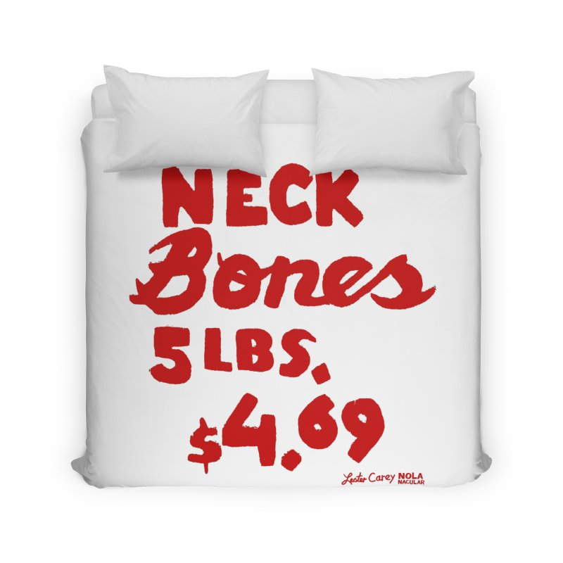 NOLA 'Nacular Neck Bones hand-painted sign by Lester Carey Home Duvet by NOLA 'Nacular's Shop
