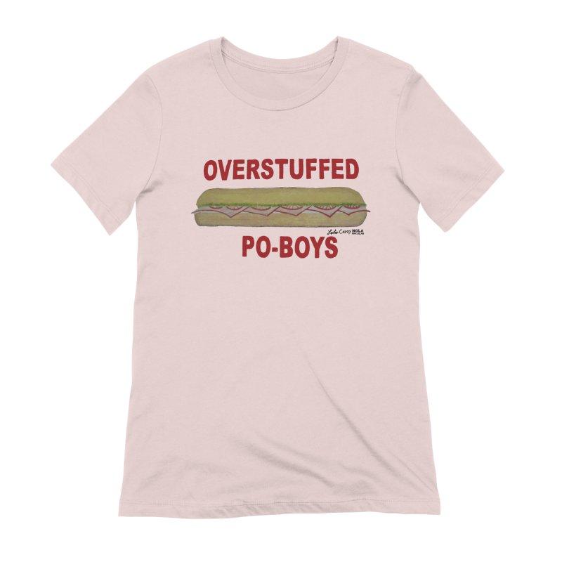 NOLA 'Nacular Overstuffed Poboys sign Lester Carey t-shirt Women's Extra Soft T-Shirt by NOLA 'Nacular's Shop