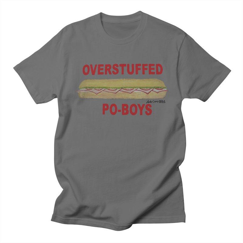 NOLA 'Nacular Overstuffed Poboys sign Lester Carey t-shirt Men's T-Shirt by NOLA 'Nacular's Shop