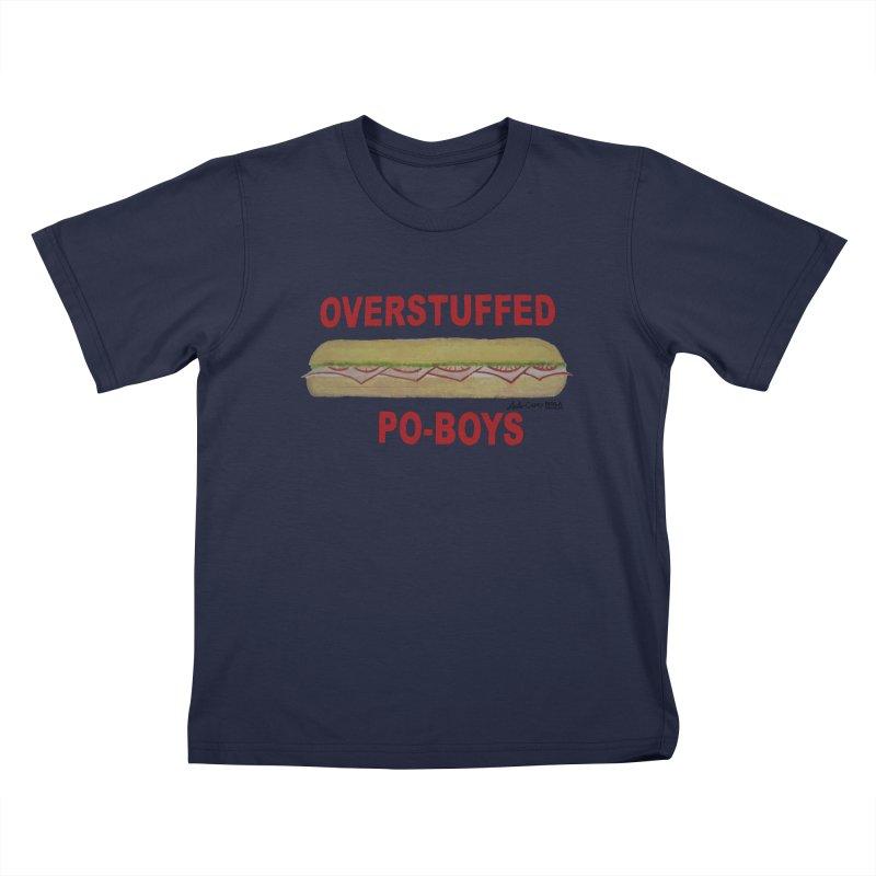 NOLA 'Nacular Overstuffed Poboys sign Lester Carey t-shirt Kids T-Shirt by NOLA 'Nacular's Shop